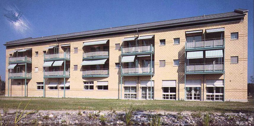 """ALTERSWOHNHEIM """"FLÄCKEMATTE"""" ROTHENBURG LU 1988 - 1990 / WETTBEWERB 1. PREIS"""