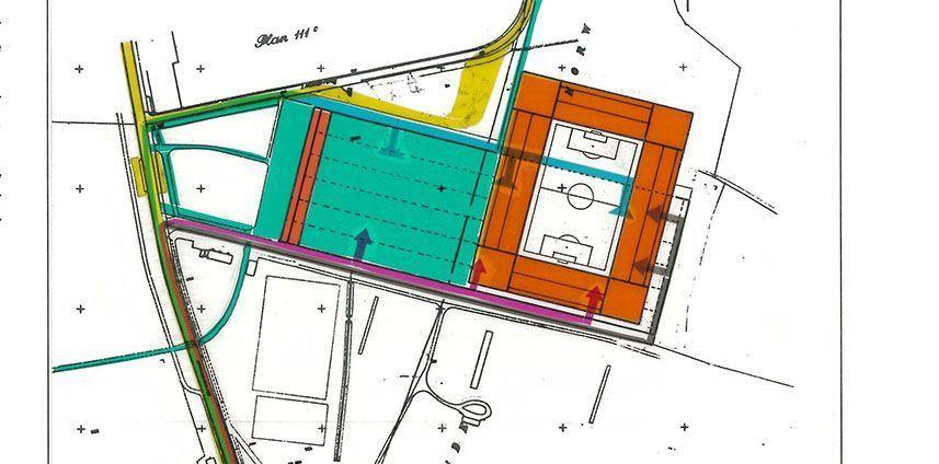 Konzeptstudie Regionalschiessplatz und Waldstadion Zihlmatt Luzern 1988